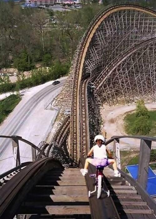 Bike Down Roller Coaster