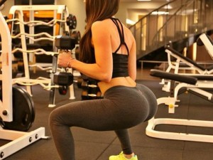 Jen Selter - Squate With Weights